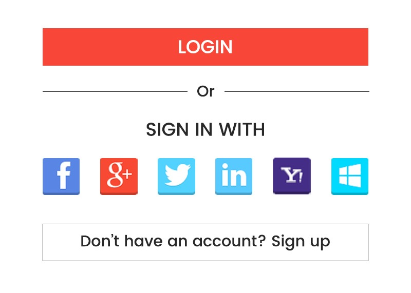 Login via social accounts - Magento mobile app