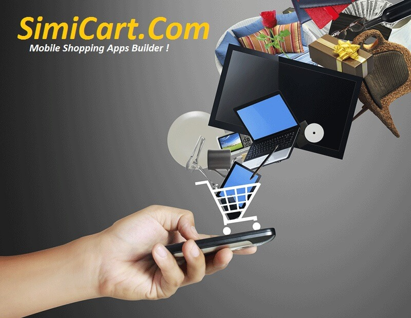 mobile shopping app builder with simicart