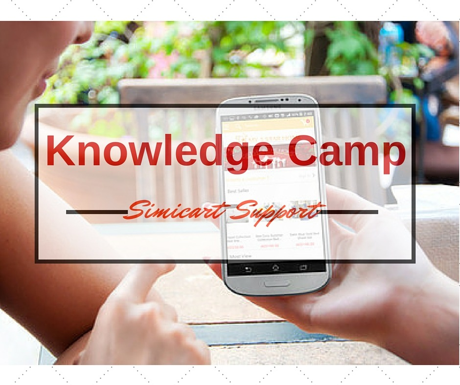 Knowledge Camp support from simicart