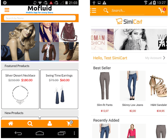 Simicart and Mofluid: Which mobile app builder is better?