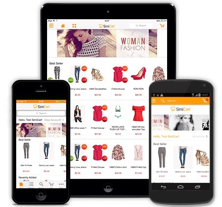 best mobile shopping simicart