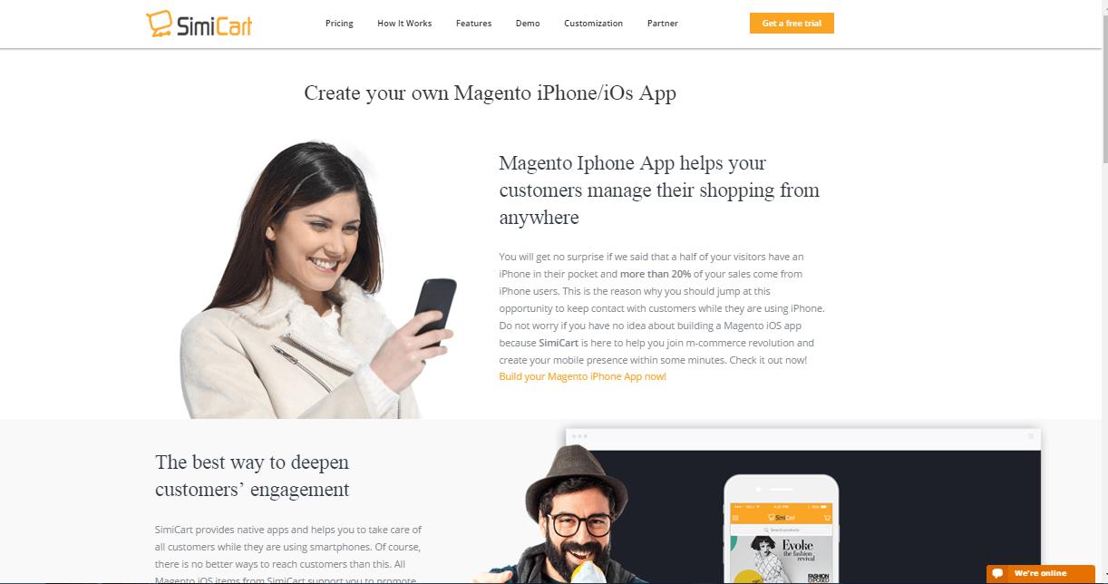 Magento-iOS-app-Landing-page