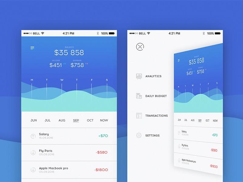 Mobile app motion