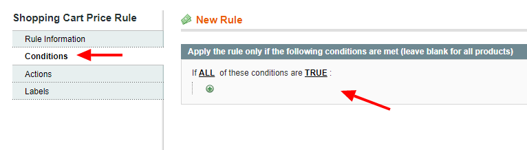 Magento 1 coupon conditions