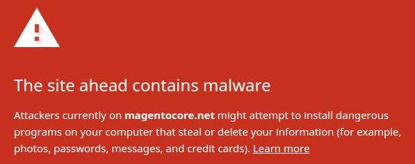 Google added MagentoCore Malware to Chrome's blacklist,