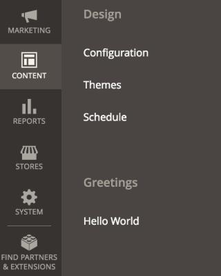 Custom menu Magento 2 Admin