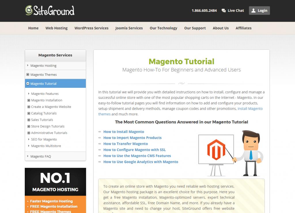 SiteGround Magento Tutorial