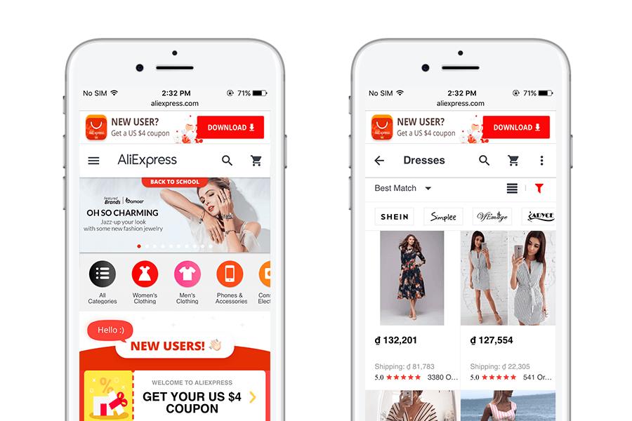 AliExpress - 10 best progressive web apps for ecommerce 2018