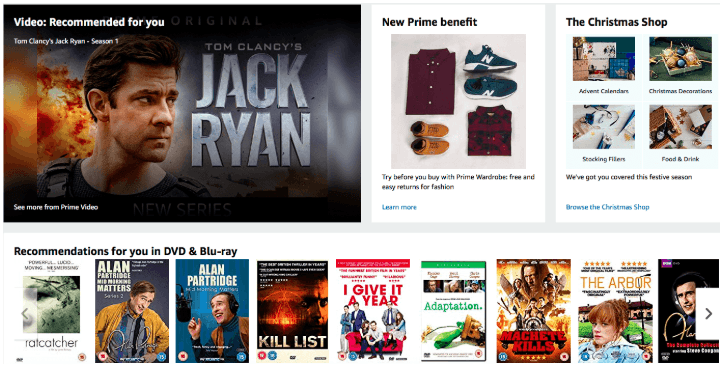 Amazon Personalize product recommendations example of using Artificial Intelligence