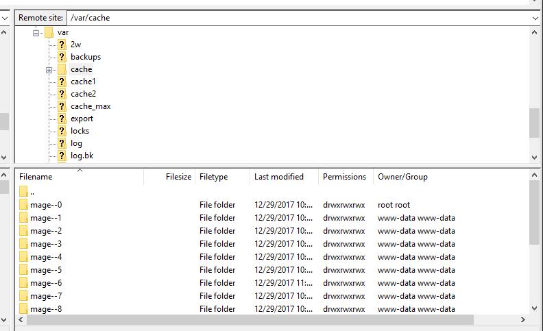 magento cache folder