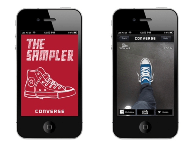 AR Augmented Reality 'The Sampler' app of Converse