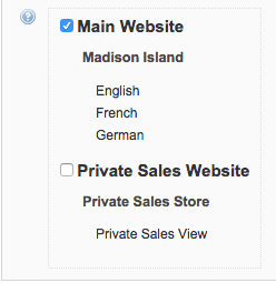 magento enabled website