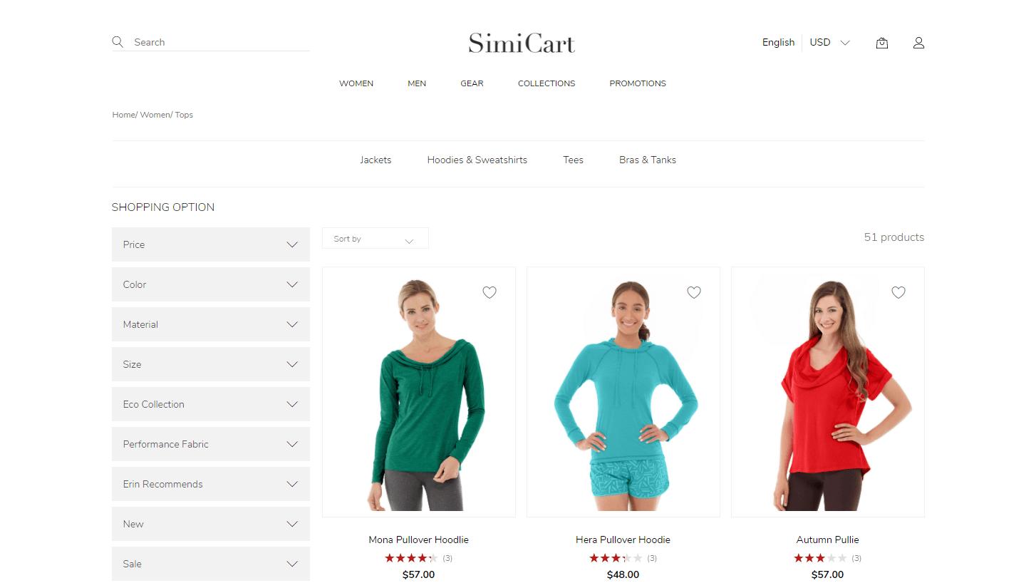 SimiCart Fashion theme