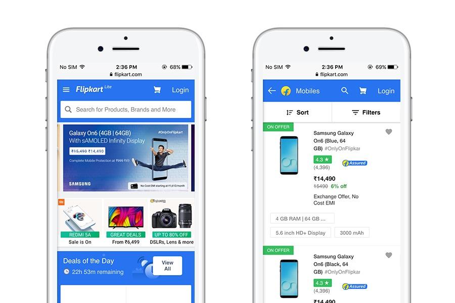 FlipKart - 10 best progressive web apps for ecommerce 2018