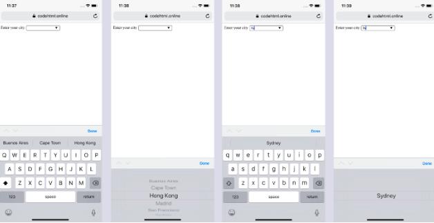 Input text box PWA iOS