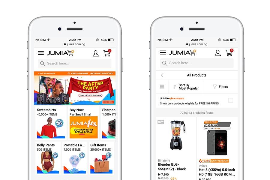 Jumia - 10 best progressive web apps for ecommerce 2018