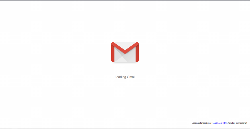 Gmail Loading Screen