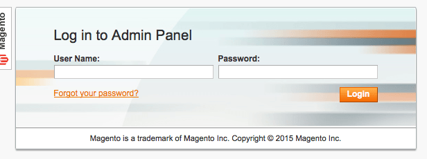 magento 1 backend login