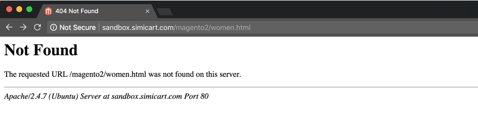 magento the requested url was not found on this server
