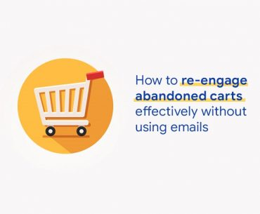 How to re-engage abandoned cart banner