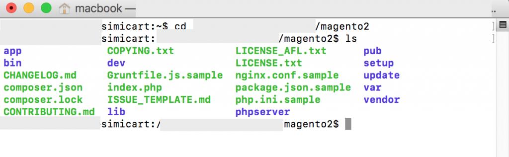 magento 2 root folder