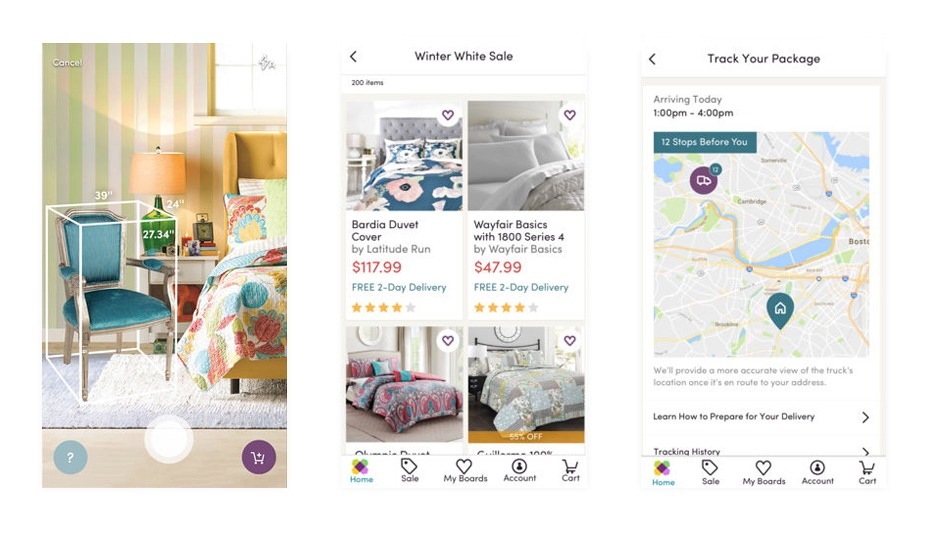 Wayfair - Top 7 Ecommerce Apps for your inspiration in 2018