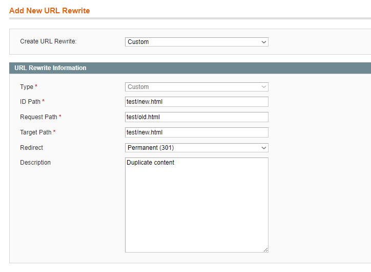 Magento URL Rewrite