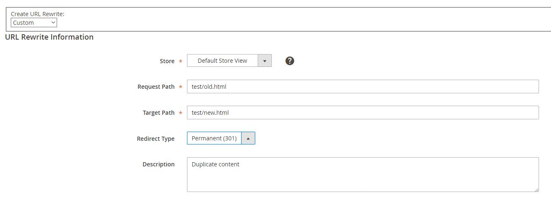 Magento 2 URL Rewrite