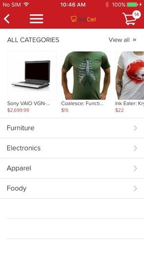 Free mobile app theme - Arrange items