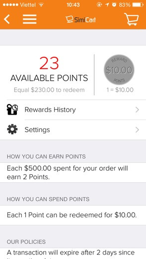 loyalty system for mobile app
