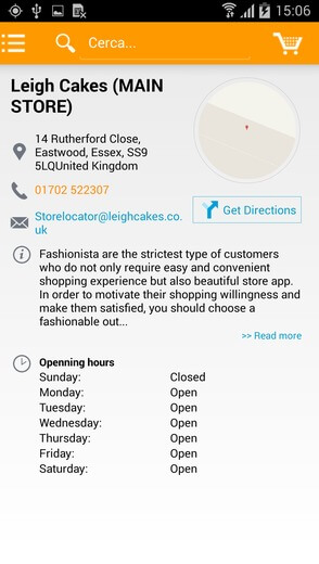 Store finder for mobile app