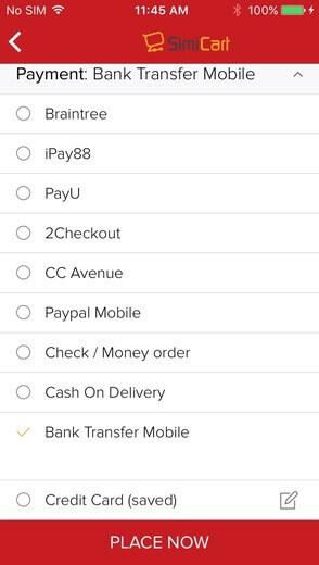 Bank transfer method - Choose Payment method
