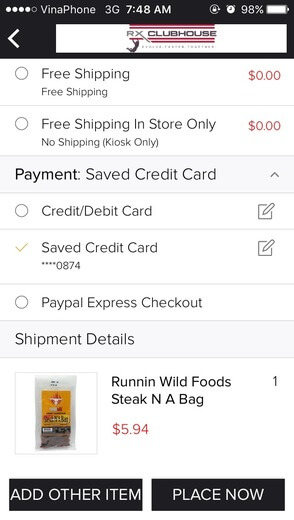 Credit Card Saved Payment Method - Choose saved credit card