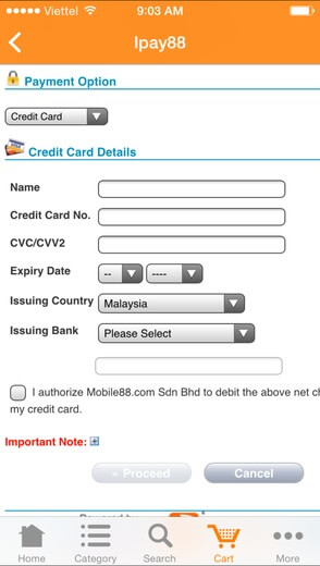 ipay88 payment gateway - fill required information