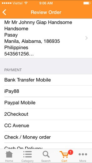 ipay88 payment gateway -  review order
