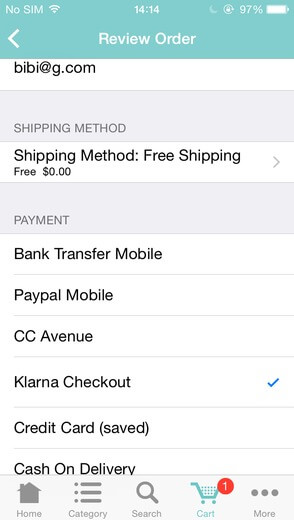connection between you m-commerce apps and Klarna