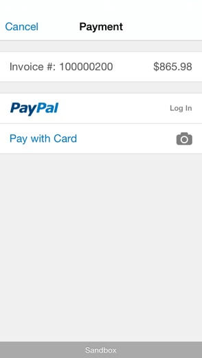 PayPal Mobile method