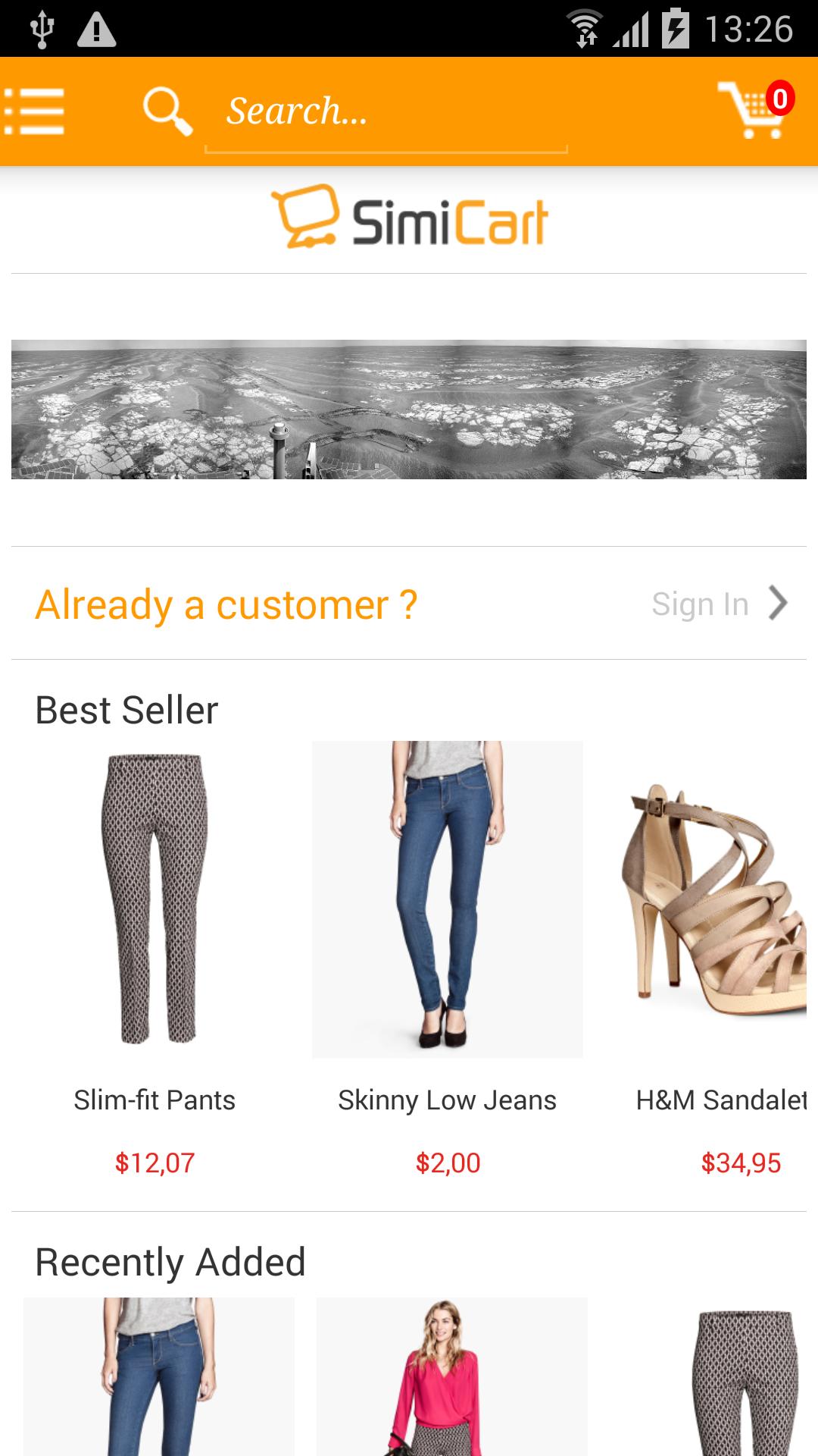 "M-commerce - Mobile Shopping App - Magento Mobile App Builder - Android"" ><img src="