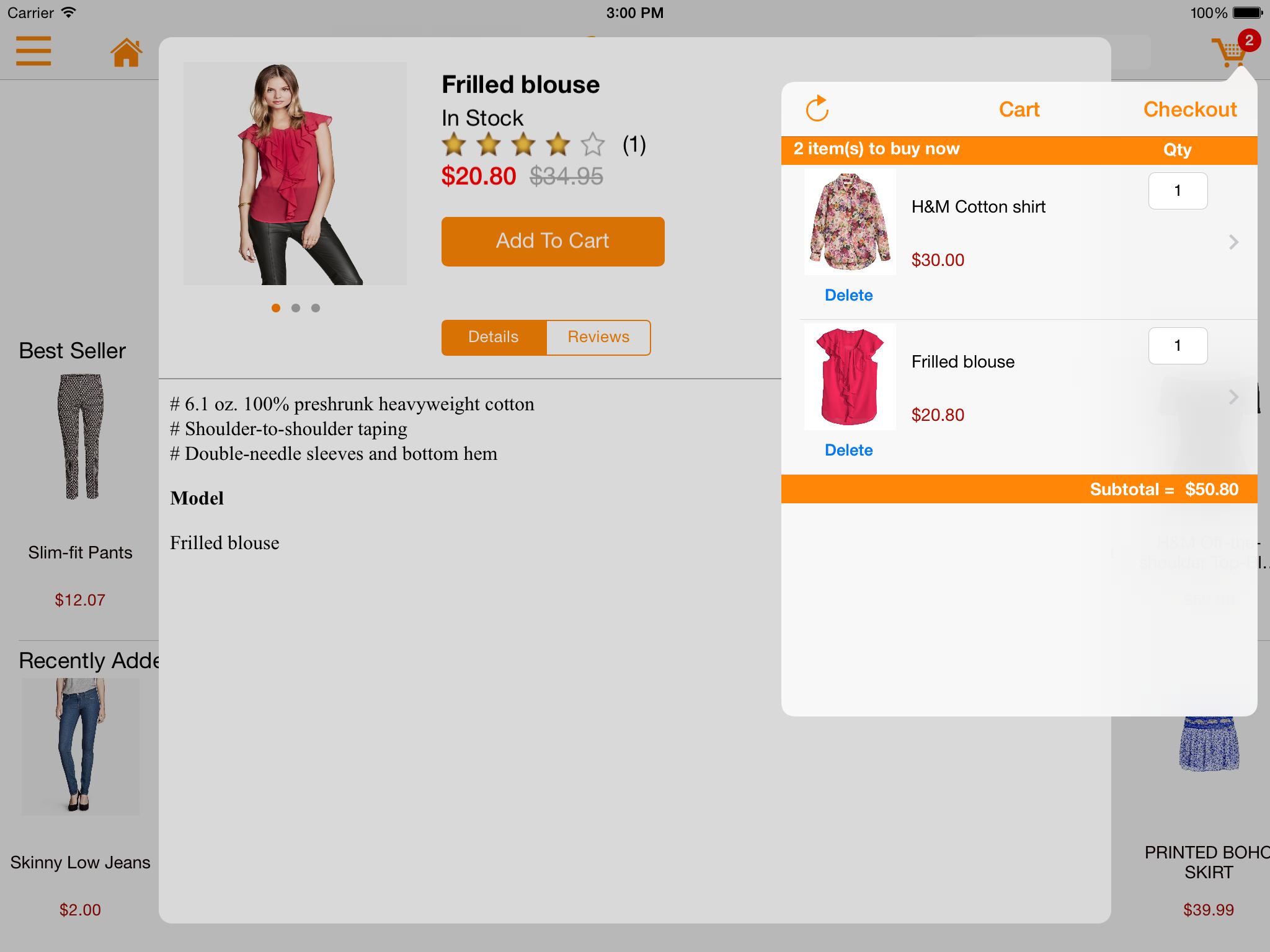 M-commerce - Mobile Shopping App - Magento Mobile App Builder - iPad