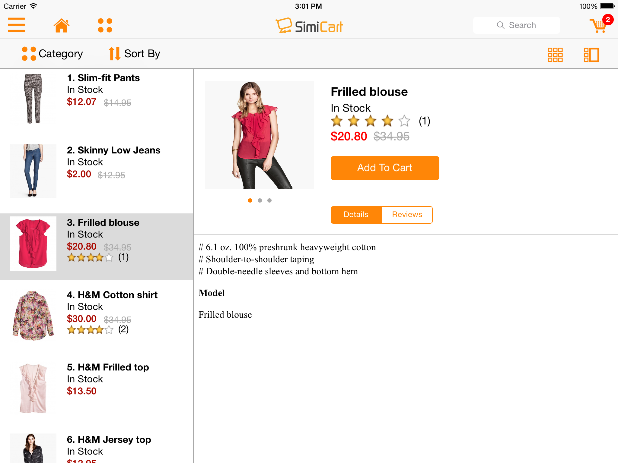 M-commerce - Mobile Shopping App - Magento Mobile App Builder - iPad Category