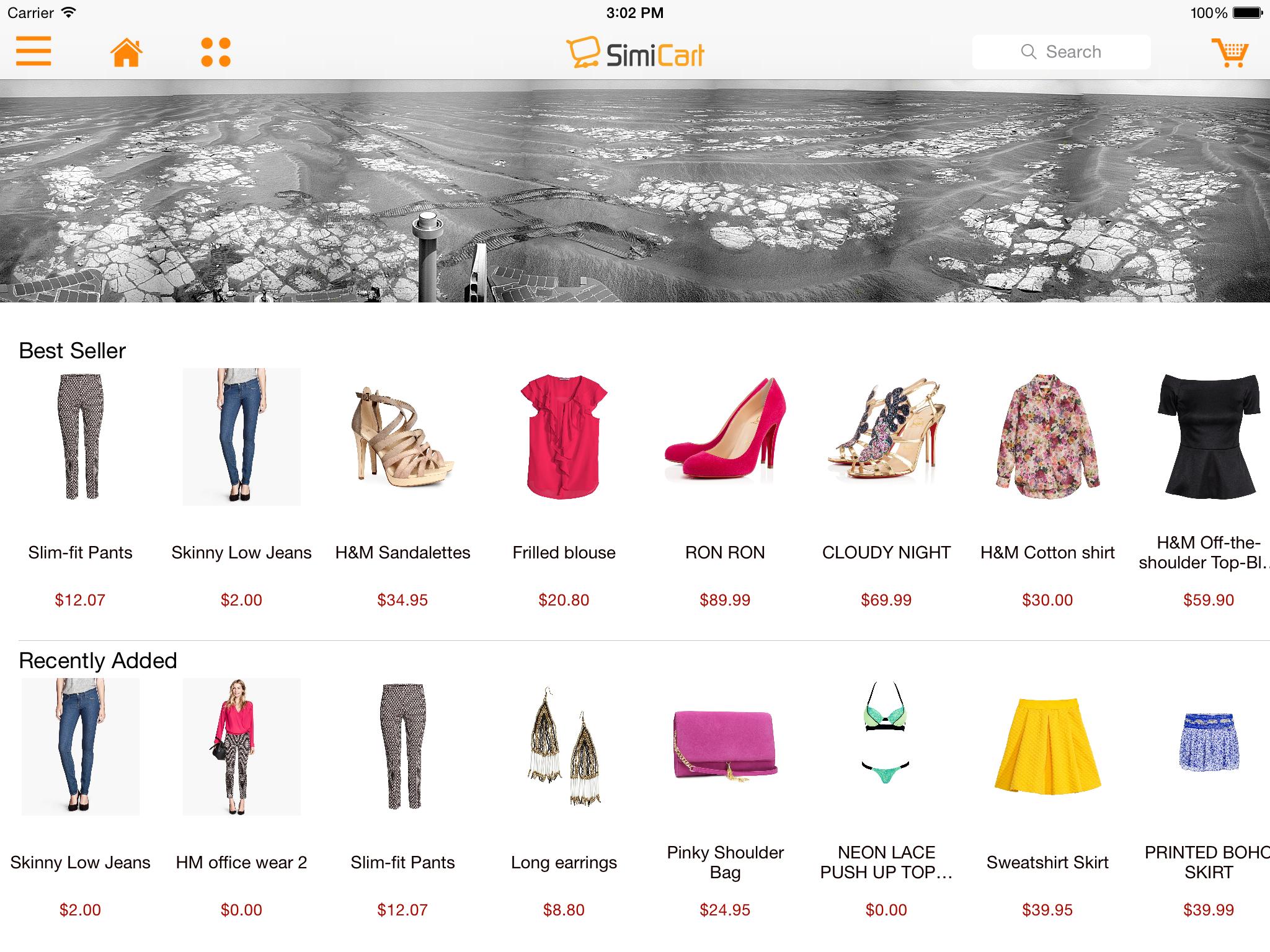 M-commerce - Mobile Shopping App - Magento Mobile App Builder - carrier