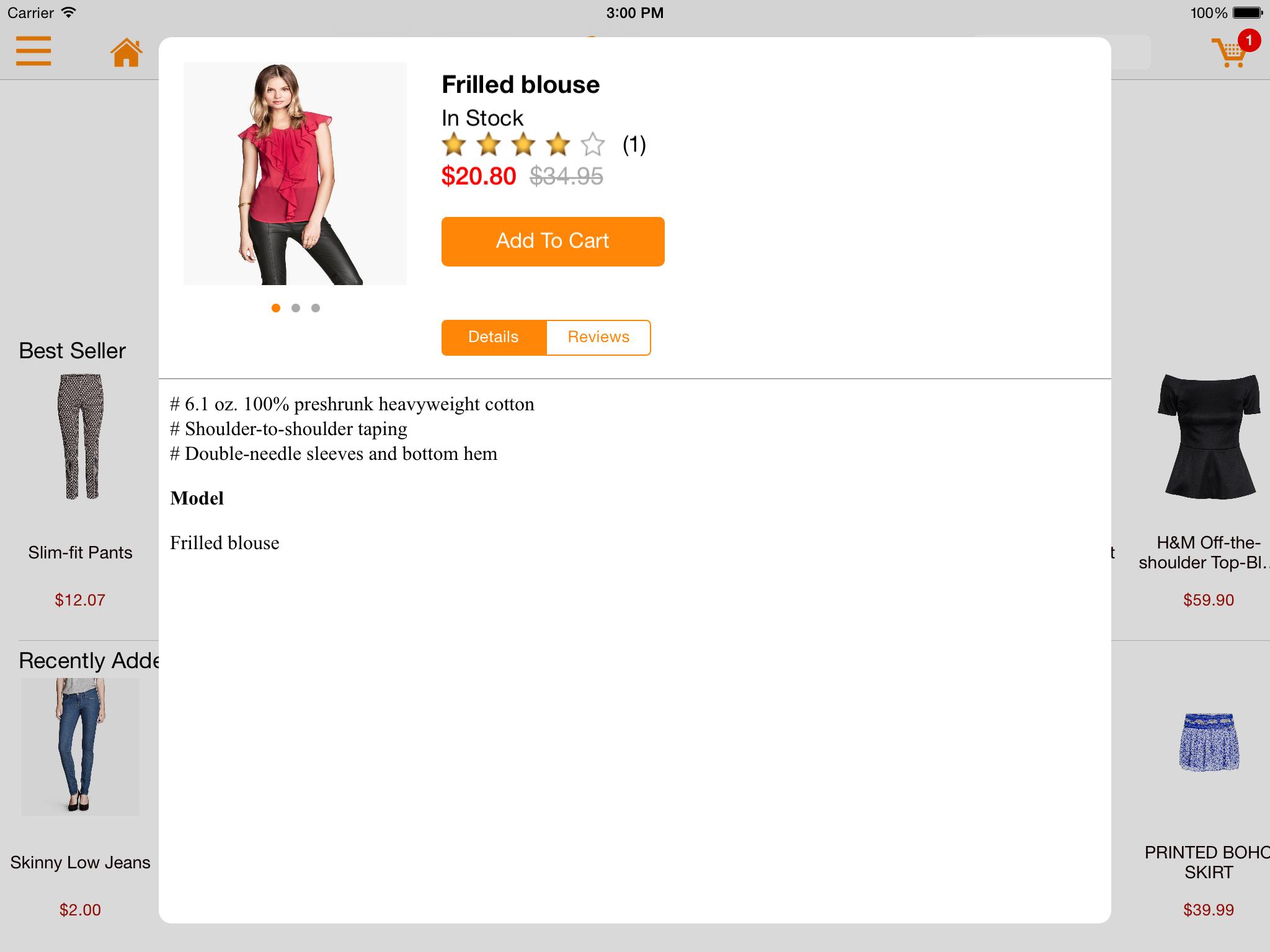 M-commerce - Mobile Shopping App - Magento Mobile App Builder - Bestseller