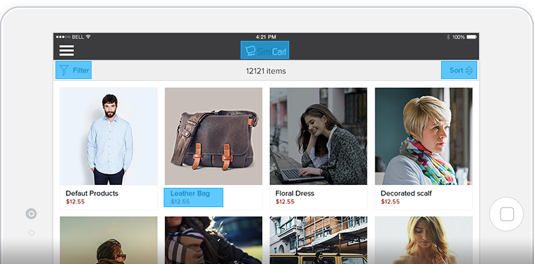 Magento ipad app features