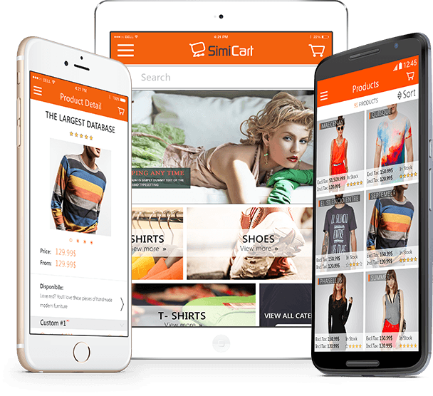 Top 10 mobile shopping apps builder - SimiCart